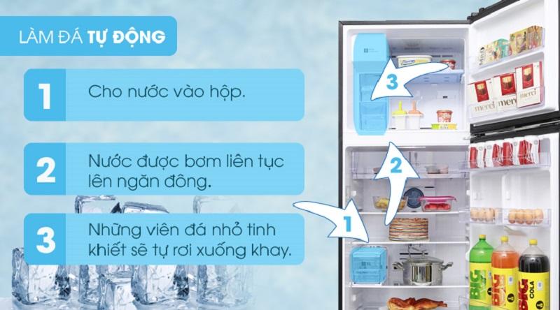 Thiết kế ngăn lấy nước bên ngoài và làm đá tự động vô cùng tiện lợi - Tủ lạnh Samsung Inverter 360 lít RT35K5982BS/SV