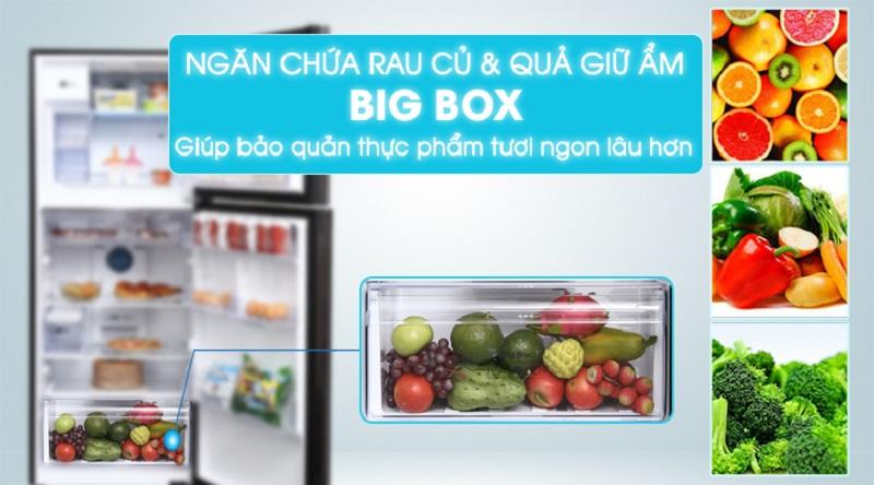 Bảo quản rau củ tốt hơn với ngăn giữ ẩm cho rau củ quả - Tủ lạnh Samsung Inverter 360 lít RT35K5982BS/SV
