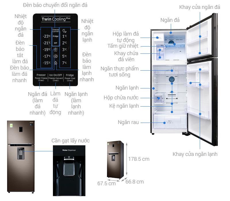 Thông số kỹ thuật Tủ lạnh Samsung Inverter 380 lít RT38K5982DX/SV