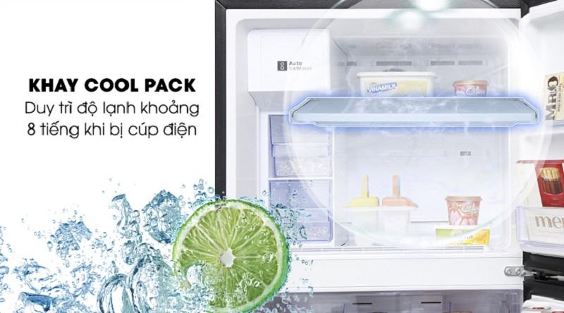 Khay lạnh Cool Pack hỗ trợ giữ nhiệt khi mất điện - Tủ lạnh Samsung Inverter 380 lít RT38K5982DX/SV