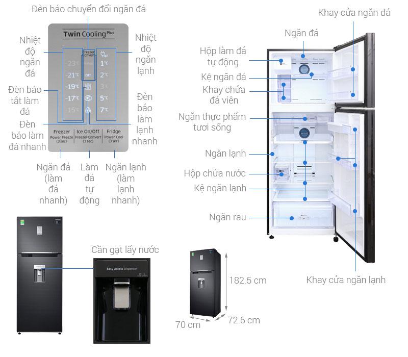 Thông số kỹ thuật Tủ lạnh Samsung Inverter 451 lít RT46K6885BS/SV