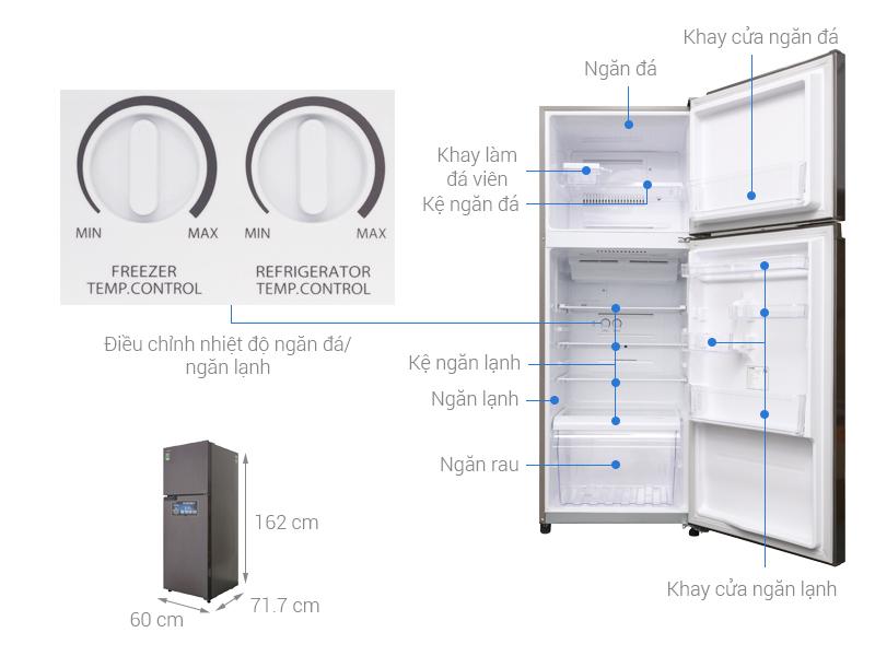 Thông số kỹ thuật Tủ lạnh Toshiba Inverter 305 lít GR-A36VUBZ DS