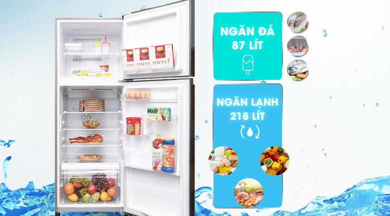 Tủ lạnh Toshiba Inverter 305 lít GR-A36VUBZ DS  - Dung tích