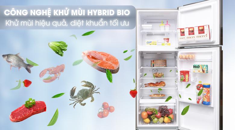 Công nghệ Hybrid Bio loại bỏ hoàn toàn mọi vi khuẩn và mùi hôi bên trong tủ lạnh - Tủ lạnh Toshiba Inverter 305 lít GR-A36VUBZ DS