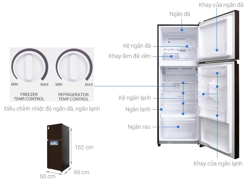 Thông số kỹ thuật Tủ lạnh Toshiba Inverter 305 lít GR-AG36VUBZ XB
