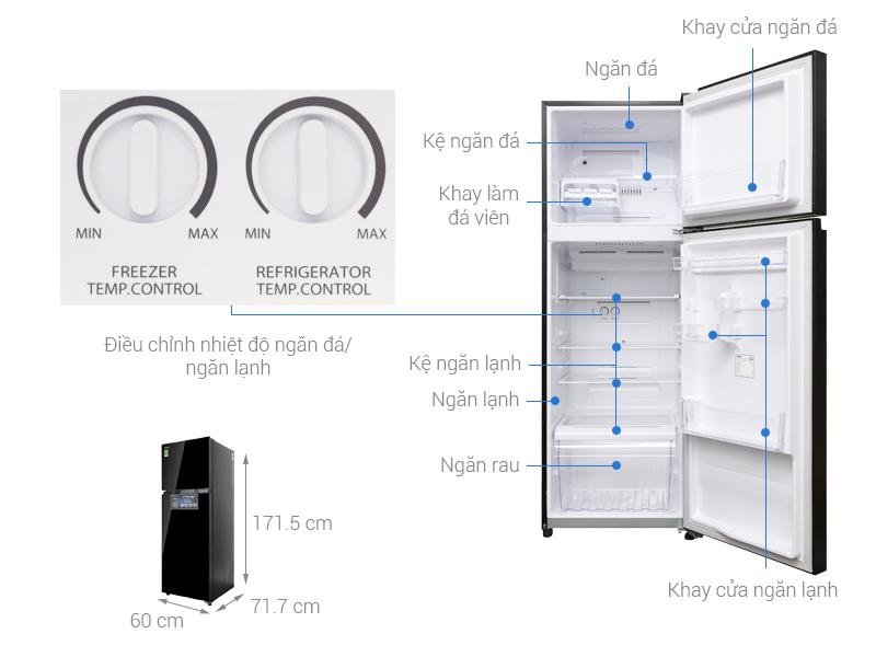 Thông số kỹ thuật Tủ lạnh Toshiba Inverter 330 lít GR-AG39VUBZ XK
