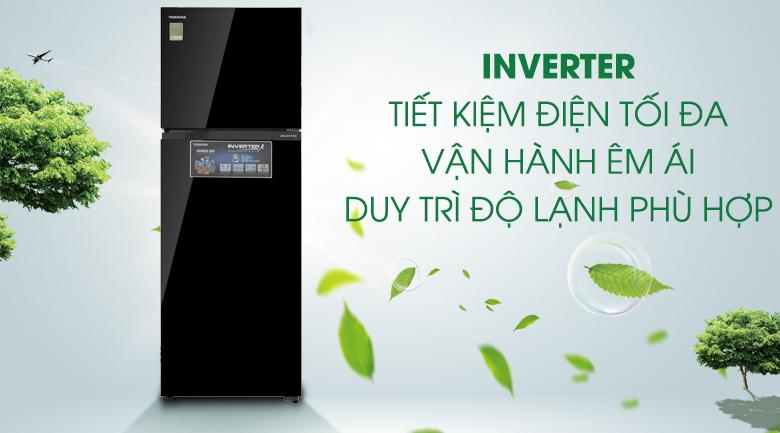 Tiết kiệm điện tối đa với công nghệ Inverter - Tủ lạnh Toshiba Inverter 330 lít GR-AG39VUBZ XK