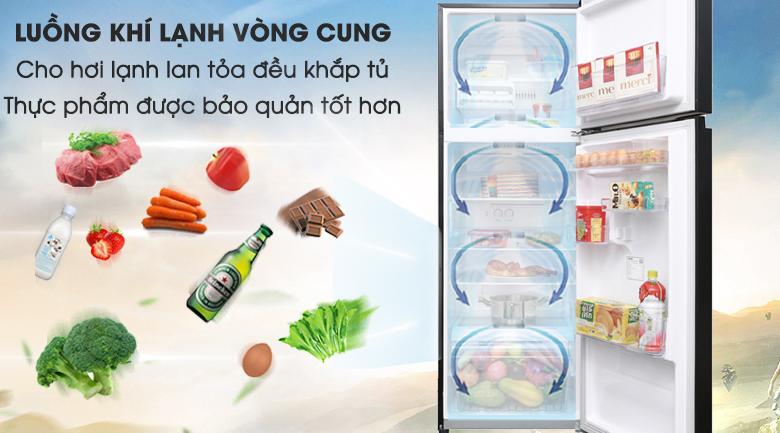 Công nghệ làm lạnh với luồng khí lạnh vòng cung - Tủ lạnh Toshiba Inverter 330 lít GR-AG39VUBZ XK
