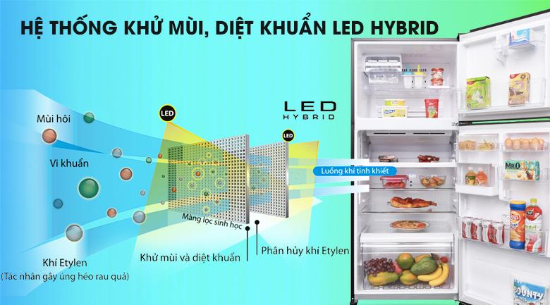 Công nghệ kháng khuẩn, khử mùi Hybrid Bio với tinh thể bạc Ag+ loại bỏ vi khuẩn, mùi hôi khó chịu - Tủ lạnh Toshiba Inverter 359 lít GR-AG41VPDZ XK