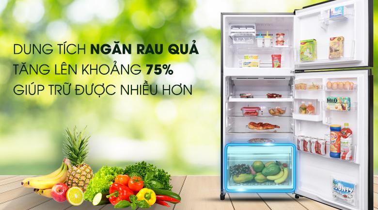 Ngăn rau quả giữ ẩm, cho rau quả tuôn tươi ngon, mọng nước - Tủ lạnh Toshiba Inverter 359 lít GR-AG41VPDZ XK