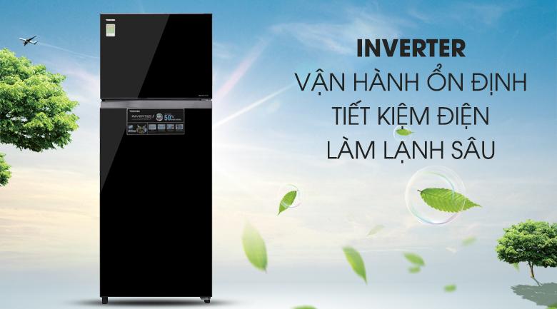 Tiết kiệm điện hơn với công nghệ Inverter kết hợp chế độ Eco hiện đại - Tủ lạnh Toshiba Inverter 409 lít GR-AG46VPDZ XK