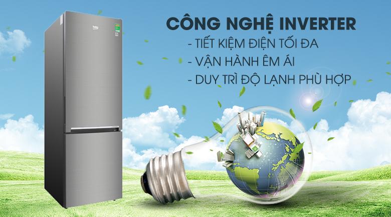 Tủ lạnh Beko Inverter 323 lít RCNT340I50VZX - Công nghệ Inverter
