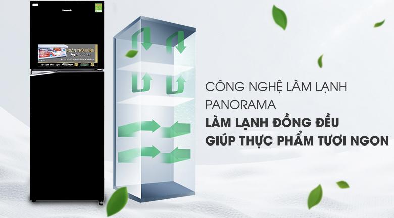 Làm lạnh tốt hơn với công nghệ Panorama - Tủ lạnh Panasonic Inverter 366 lít NR-BL389PKVN