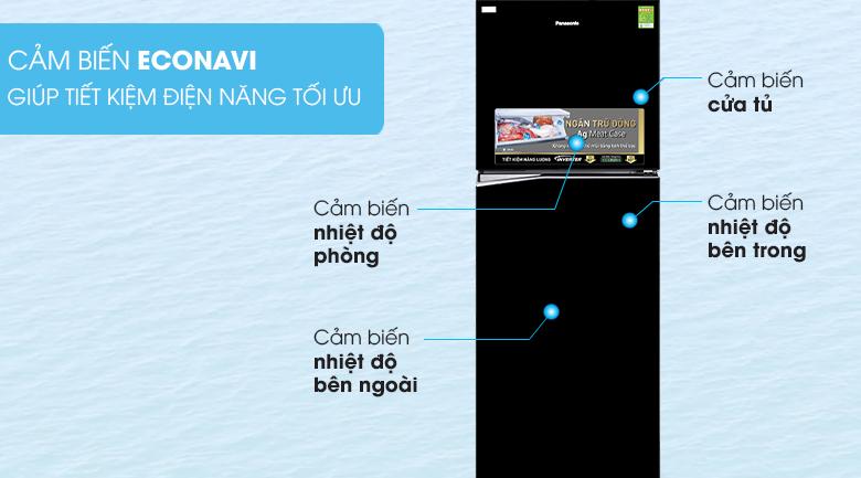 Tích hợp cảm biến đa điểm Econavi hiện đại - Tủ lạnh Panasonic Inverter 366 lít NR-BL389PKVN