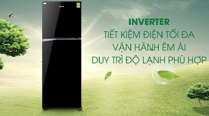 Tiết kiệm điện tối ưu nhờ công nghệ Inverter - Tủ lạnh Panasonic Inverter 366 lít NR-BL389PKVN