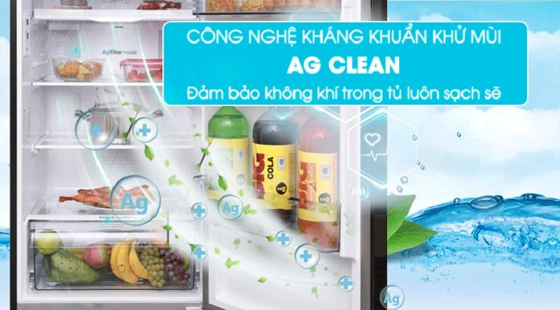 Lọc sạch không khí trong tủ với công nghệ Ag Clean - Tủ lạnh Panasonic Inverter 366 lít NR-BL389PKVN