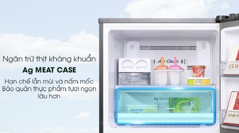 Ngăn trữ thịt kháng khuẩn Ag Meat Case - Tủ lạnh Panasonic Inverter 366 lít NR-BL389PKVN