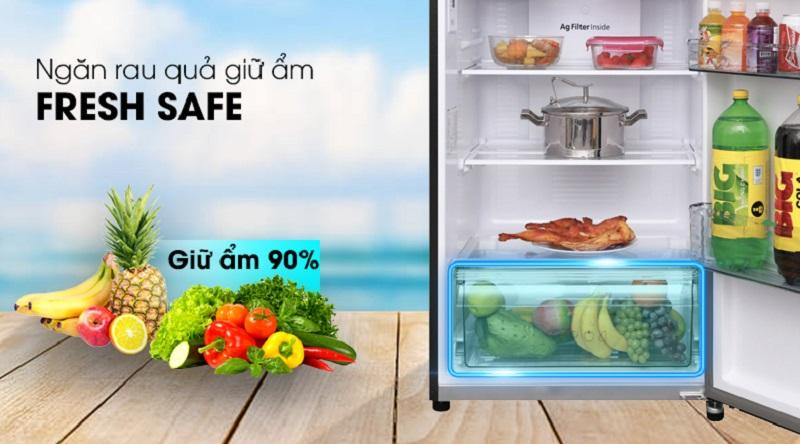 Bảo quản rau củ quả tốt hơn với ngăn chứa rau củ - Tủ lạnh Panasonic Inverter 366 lít NR-BL389PKVN