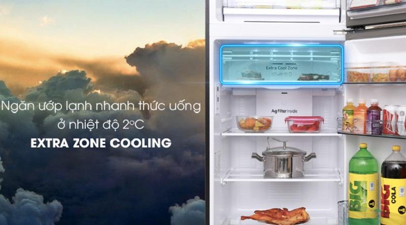 Tiện lợi hơn với ngăn làm lạnh nhanh Extra Cool Zone - Tủ lạnh Panasonic Inverter 366 lít NR-BL389PKVN