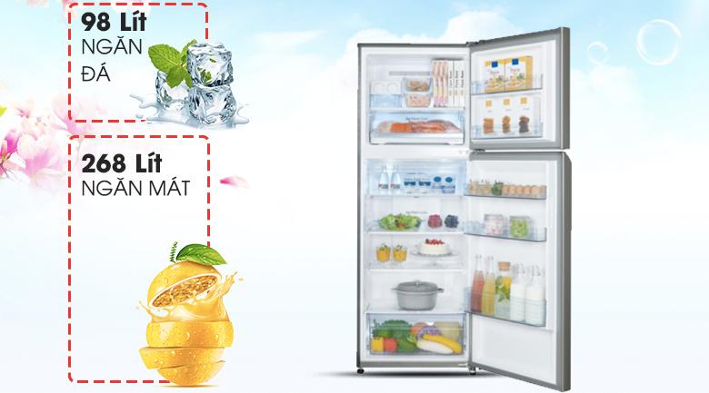 Thoải mái bảo quản với dung tích 366 lít - Tủ lạnh Panasonic Inverter 366 lít NR-BL389PSVN