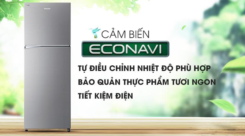 Tiết kiệm điện năng hiệu quả với cảm biến Econavi - Tủ lạnh Panasonic Inverter 366 lít NR-BL389PSVN