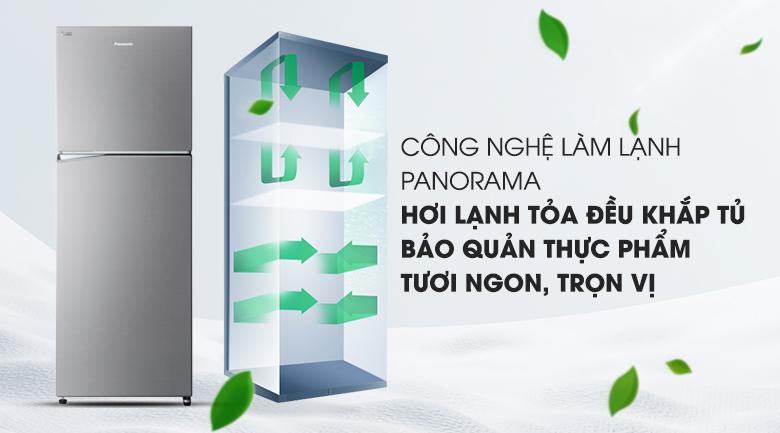 Hệ thống làm lạnh đa chiều Panaroma - Tủ lạnh Panasonic Inverter 366 lít NR-BL389PSVN