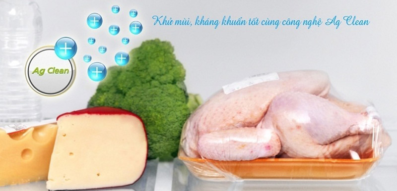 Công nghệ kháng khuẩn Ag Clean với tinh thể bạc Ag+ loại bỏ mùi hôi và vi khuẩn gây hại mạnh mẽ