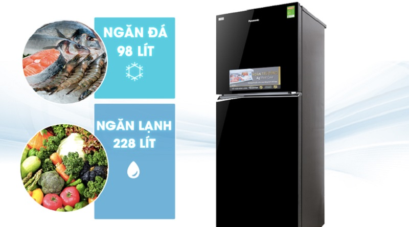 Thoải mái tích trữ thực phẩm với dung tích tủ lớn - Tủ lạnh Panasonic Inverter 326 lít NR-BL359PKVN