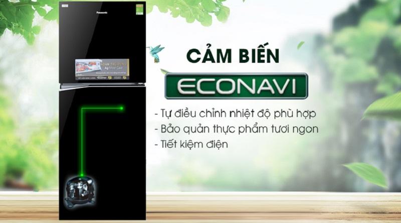 Điều chỉnh nhiệt độ tốt hơn với cảm biến Econavi - Tủ lạnh Panasonic Inverter 326 lít NR-BL359PKVN