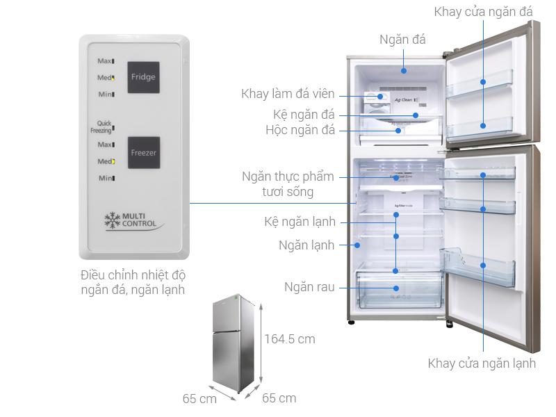 Thông số kỹ thuật Tủ lạnh Panasonic Inverter 326 lít NR-BL359PSVN