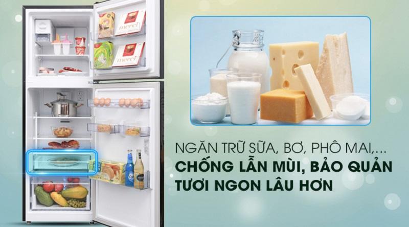 Ngăn chuyên chứa bơ sữa, phô mai,.. chống lẫn mùi - Tủ lạnh Beko Inverter 250 lít RDNT250I50VWB