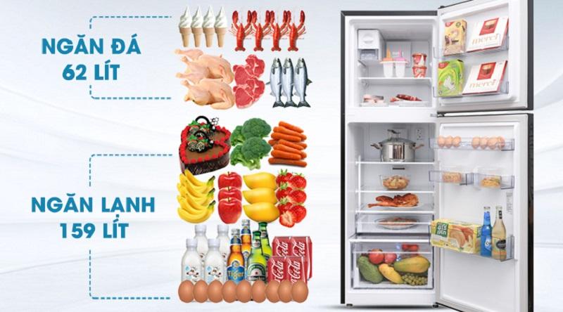 Dung tích 250L - Tủ lạnh Beko Inverter 250 lít RDNT250I50VWB