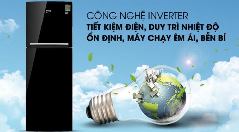 Công nghệ inverter hiện đại - Tủ lạnh Beko Inverter 250 lít RDNT250I50VWB