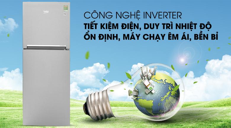 Công nghệ Inverter tiết kiệm - Tủ lạnh Beko Inverter 230 lít RDNT230I50VS