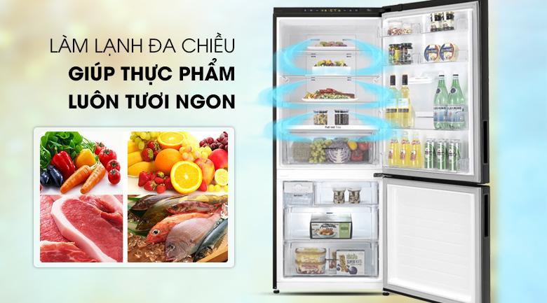 Làm lạnh đa chiều - Tủ lạnh LG Inverter 450 lít GR-D400BL
