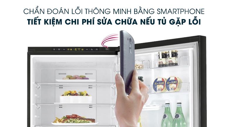 Chẩn đoán thông minh - Tủ lạnh LG Inverter 450 lít GR-D400BL
