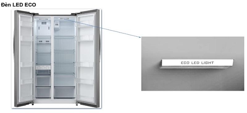 Đèn LED Eco - Tủ lạnh Midea 530 lít MRC-690SS