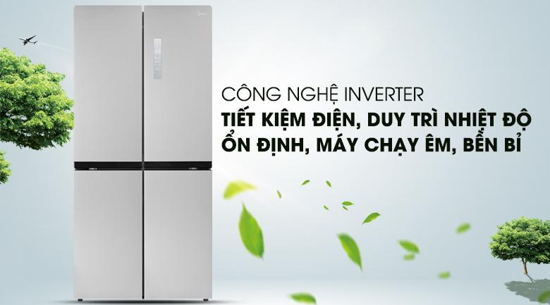 Công nghệ Inverter - Tủ lạnh Midea 428 lít MRC-626FWEIS