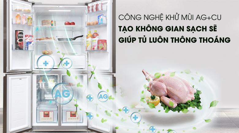 Bộ lọc phân tử Ag+Cu - Tủ lạnh Midea 428 lít MRC-626FWEIS