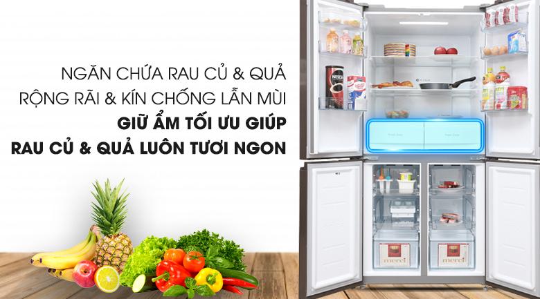 Lưu trữ nhiều rau quả - Tủ lạnh Midea 428 lít MRC-626FWEIS