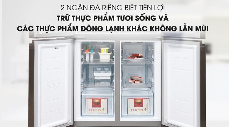 Tủ lạnh Midea MRC-626FWEIS - Ngăn đông riêng biệt