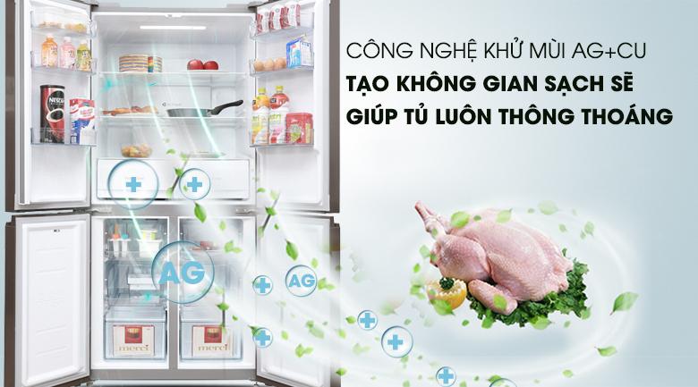 Bộ lọc Ag+Cu- Tủ lạnh Midea 482 lít MRC-626FWEIS - G