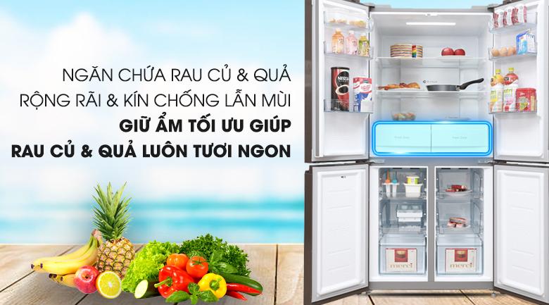 Tủ lạnh Midea 482 lít MRC-626FWEIS - G - Ngăn rau củ