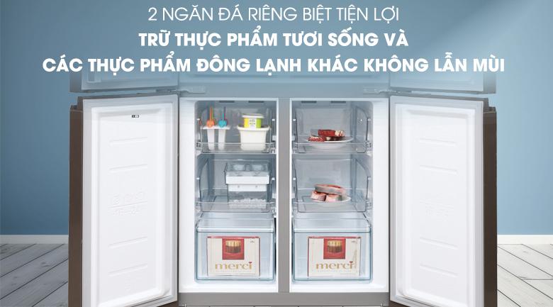 Tủ lạnh Midea 482 lít MRC-626FWEIS - G - Ngăn đá tiện lợi