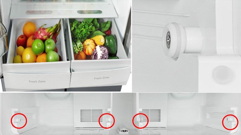 Ngăn kéo Easy Slide - Tủ lạnh Midea 482 lít MRC-626FWEIS - G