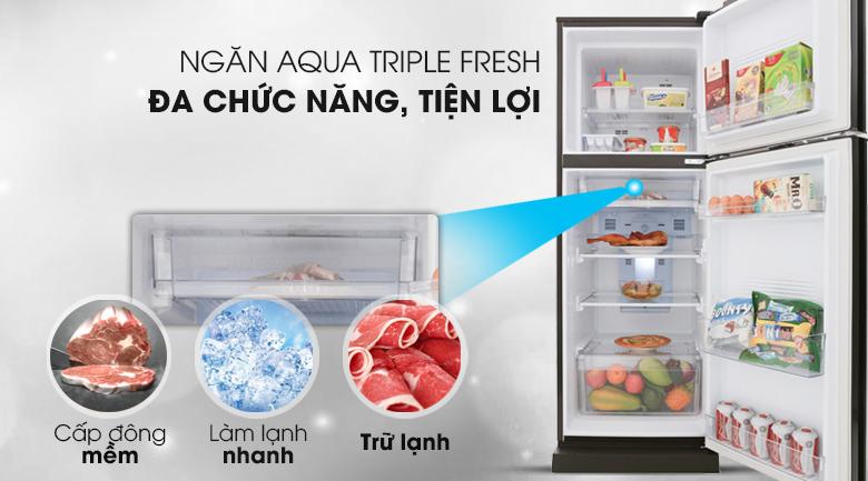 Ngăn trữ đa năng Aqua Triple Fresh - Tủ lạnh Aqua Inverter 226 lít AQR-I247BN