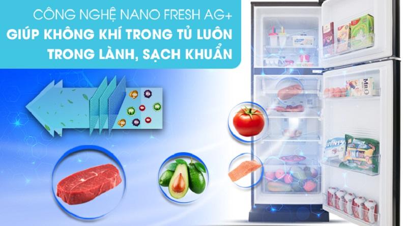 Chức năng diệt khuẩn và khử mùi Nano Fresh Ag+ - Tủ lạnh Aqua Inverter 226 lít AQR-I247BN (DC)
