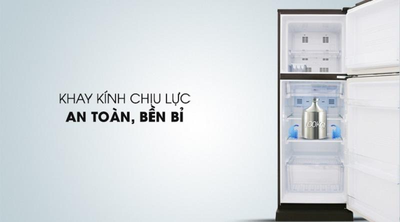 Kính chịu lực tốt, độ bền cao - Tủ lạnh Aqua Inverter 226 lít AQR-I247BN (DC)