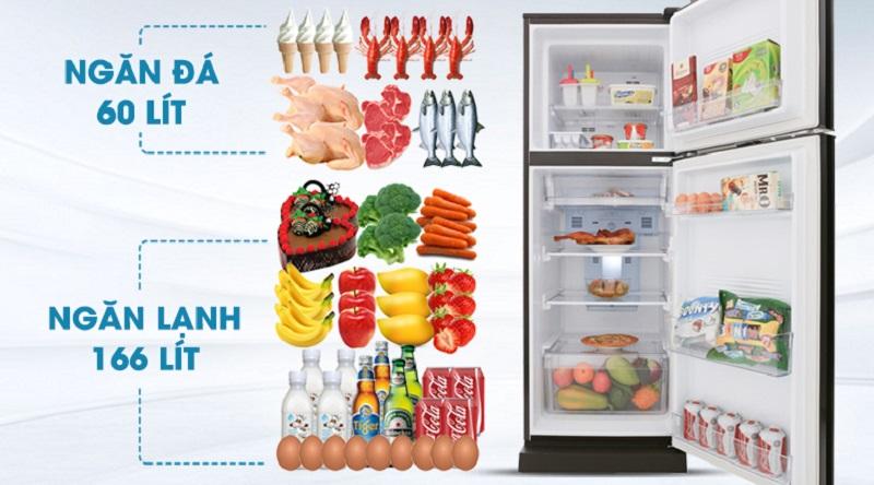 Dung tích 226 lít - Tủ lạnh Aqua Inverter 226 lít AQR-I247BN (DC)