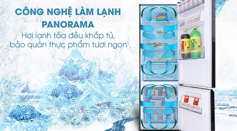 Công nghệ Panorama giúp làm lạnh ngăn tủ đồng đều - Tủ lạnh Panasonic Inverter 322 lít NR-BC369QKV2